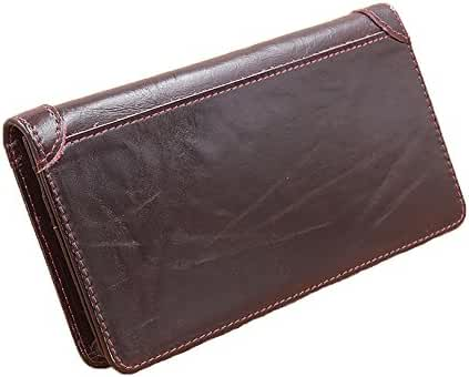 Men's Extra Capacity Leather Passcase Bifold Wallet